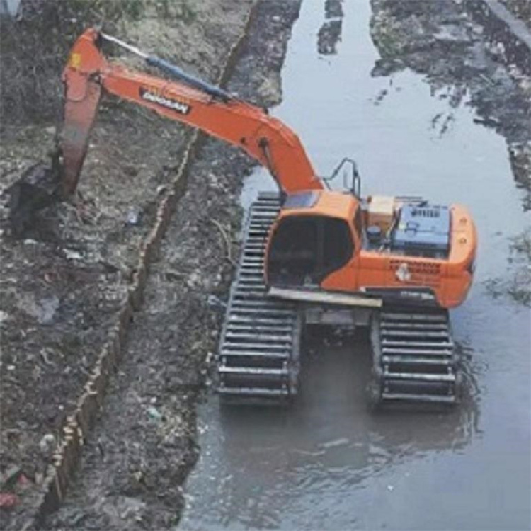 出租水陆两用挖机 江门水陆两用挖机出租公司
