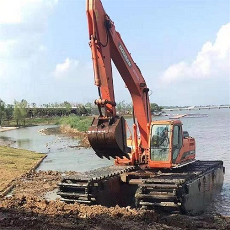 水路挖掘机出租公司 潮州出租水陆挖机价格