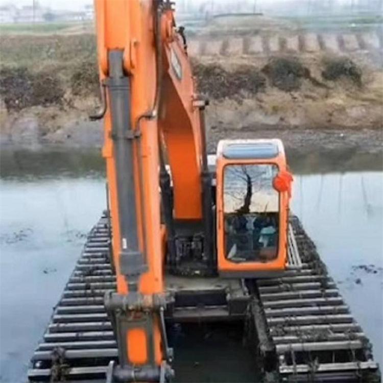 水陆挖机出租服务 肇庆水陆两栖挖机出租