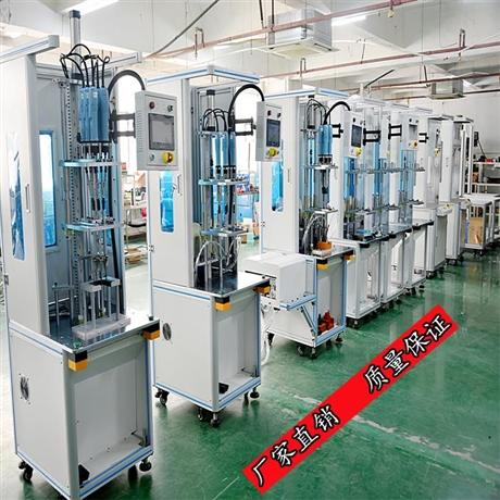 自动锁螺丝机厂家-8轴转盘带机械手卸料-灵活性强-多种吸附方式